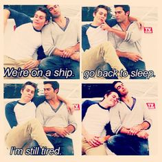 sterek.So not happening but still hilarious!great video.Teen wolf obsessed......
