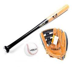 a84454b22 Kit Taco Baseball Madeira Com Bola Cortiça e Luva Vollo - Vollo sports