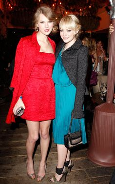 Pin for Later: Is Taylor Swift the Queen Bee of Her Famous Girlfriends? Emma Stone