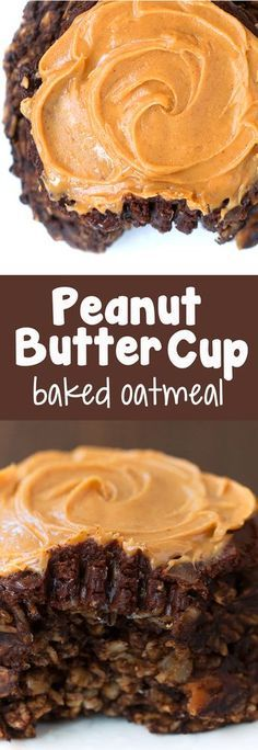 If you like chocolate and peanut butter, you will LOVE this peanut butter baked oatmeal recipe for a healthy breakfast!