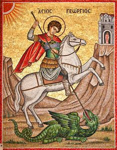 Hope Beel, Paint Icon, Bible Illustrations, Devian Art, Byzantine Icons, Knights Templar, Orthodox Icons, Saint George, Our Lady