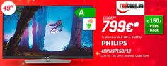 "Chollazo TV Philips 49"" rebajado Redcoon con reembolso de 150€."