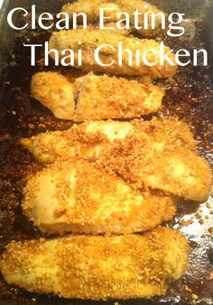 Clean Eating Thai Lime Chicken. Only 5 ingredients and comes together in about 40 minutes including bake time. Minimal hands on effort. YES! #Thai #Recipe #CleanEating