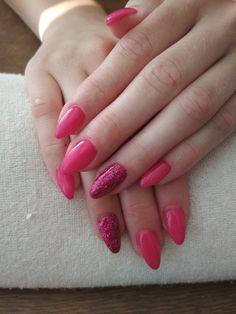 pink gel, pink glitter