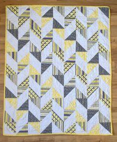 Herringbone Half Square Triangle Baby Quilt