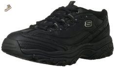 Skechers for Work Women's D'Lite Slip Resistant Work Shoe,Black,5.5 XW US - Skechers sneakers for women (*Amazon Partner-Link)