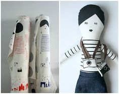mikodesign doll and fabric