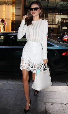 Look of the day   Miranda Kerr carrying Prada bag at the David Jones show in Sydney   InStyle UK