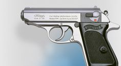 Chrome Walter PPK. The James Bond gun. Find our speedloader now! http://www.amazon.com/shops/raeind