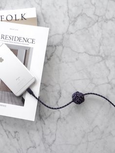 iPhone charger nautical collection. Long iPhone charger - 10 foot long cable. Kinfolkd and Residence magazines. Styling by @septemberedit