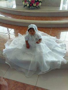 Vestido para bautizo de nena