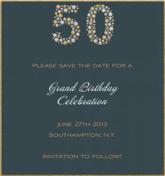Custom 60th birthday party save the date | JOAN'S HEART ...