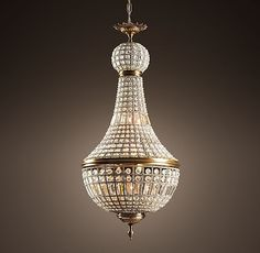 French Empire Crystal Chandelier (for Guest Bath) Home Lighting, Chandelier Lighting, Entry Chandelier, Bedroom Chandeliers, Entryway Lighting, Bronze Chandelier, Interior Lighting, Lighting Ideas, Lighting Design