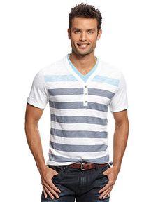 INC International Concepts Shirt, Short Sleeve Y Neck Isall T Shirt - Macy's