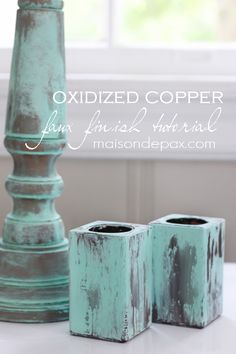 How to Create Green Patina (and what to do with the cornstarch in the back of your pantry...) - Maison de Pax