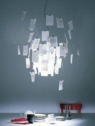 Modern Contempoary Zettel pendant Light paper Lamp Fixture for study room pendant lamps lighting Lighting Concepts, Lighting Design, Ceiling Lamp, Ceiling Lights, Ingo Maurer, Contemporary Pendant Lights, Floating, Light Fittings, Lamp Design