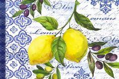 Lemons,and.Olives.-.05.of.05.-.Elena.Vladykina Watercolor Design, Watercolor Illustration, Floral Watercolor, Lemon Drawing, Lemon Art, Foto Art, Fruit Art, China Painting, Kitchen Wall Art