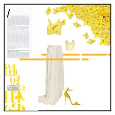 """Yellow flower"" by beekasam on Polyvore featuring Delpozo, Vionnet, Casadei, Vélizance and yellow"