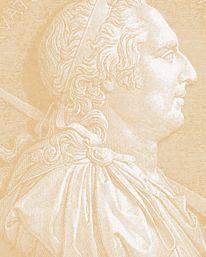 Tapet Roman Heads Cotswold från Lewis & Wood