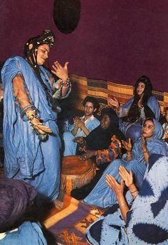 "Africa   ""Dance de la Guedra""  ca. 1970   Vintage postcard; publisher Maroc Color.  No 008"