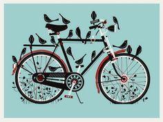 Vélo et Oiseaux par Methane Studios.