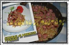 La cocina de Maetiare: Sartenada de longanizas y patatas