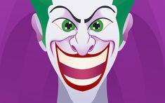 Download wallpapers Joker, art, supervillain, smile, creative, minimal