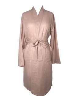 Jade and May Medium Weight Luxury Linen Kimono - Dusky Rose