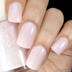 Pink Nail Polish with Purple Shimmer Cruelty Free Nail Lacquer - nailpolishideas Purple Nail Polish, Purple Nails, Matte Nails, Nail Polish Colors, Gel Nail Polish, Acrylic Nails, Peach Nails, Blue Nail, Nail Nail