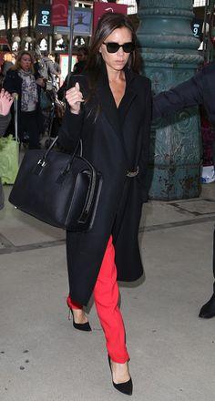 Victoria Beckham red & black