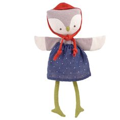 Hazel Village Lucy Owl Organic Cotton Doll
