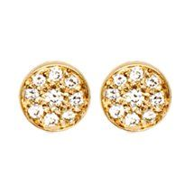 Jennifer Meyer Diamond Circle Stud Earrings....oh i wish i was really rich...