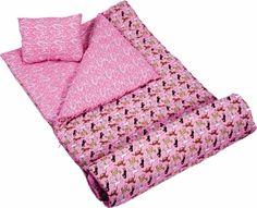 Wildkin 17030 Horses in Pink Sleeping Bag, Pink Picnic Blanket, Outdoor Blanket, Kids Sleeping Bags, Cotton Polyester Fabric, Kids Store, Kids Bags, Kids Christmas, Bag Storage, Cool Kids