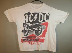 AC/DC Tee Shirt // Repro High Voltage Live, 1976, Manchester, UK...XLarge