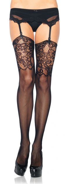 These Leg Avenue Micronet Lace Top Thigh Highs would make a statement with any outfit!!