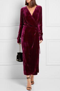 ATTICO Jane velvet wrap dress$955