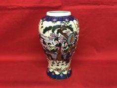 Vaso in porcellana Satsuma con decorazioni - Cina-XX secolo