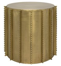 Dita Side Table, Antique Brass Finish