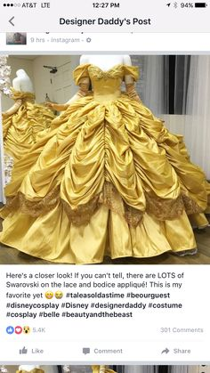 This Dad Makes Disney-Inspired Dresses For His Kids And They Look Too Good To Be Real Meet Nephi Garcia - a California-based designer daddy who makes the most amazing Disney-inspired costumes for his kids! Disney Inspired Dresses, Disney Princess Dresses, Disney Dresses, Disney Outfits, Belle Inspired Dress, Belle Dress Kids, Princess Belle Costume, Belle Outfit, Disney Princess Makeup