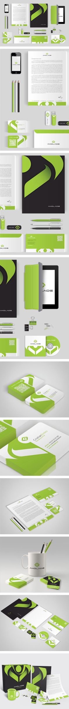 Akolade identity by  Vio Pintilie | #stationary #corporate #design…