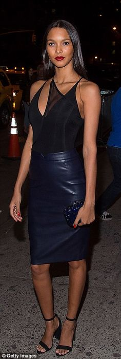 Taking the plunge! BothJosephine Skriver and Lais Ribeiro turned heads with their low-cut ensembles