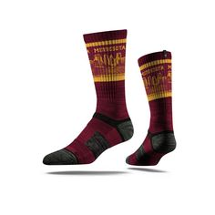 Stridelines are designed to embody the look, feel, and tradition of Florida State. This Seminoles Maroon Socks features sweat-wicking fibers, select terry pa.