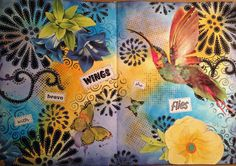 Student Work by Sarah Webb in Inventive Ink – Colorful Mixed Media Effects class.  Register here: craftsy.me/1G3Ymom