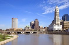 Photo about View of downtown Columbus, Ohio and the Scioto River. Image of downtown, rise, columbus - 2205898 Columbus Ohio, Put In Bay Ohio, Best Weekend Getaways, Local Activities, Willis Tower, Stock Photos, City