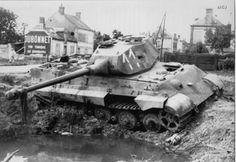 One of the 3 Tiger II destroyed at Châteaudun the August 17th 1944, near Kellerman street.