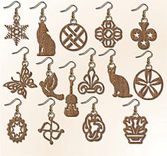 scroll saw patterns jewelry | Set of 15 Earrings