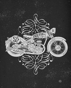 Motorcycle Illustrations - most of these are worth pinning