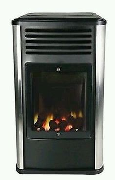 Manhattan Real Flame Flueless Portable Mobile Calor Gas Heater Stove Fire 3kw in Home, Furniture & DIY, Heating, Cooling & Air, Space Heaters | eBay!