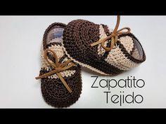 crochet baby shoes Zapatito unisex tejido a crochet/ Unisex crochet baby shoes Crochet Baby Jacket, Baby Girl Crochet, Crochet For Boys, Crochet Baby Booties, Crochet Shoes, Crochet Slippers, Diy Crochet, Baby Shoes Pattern, Shoe Pattern