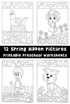 12 Fun Spring Hidden Pictures Activities To Print And Color